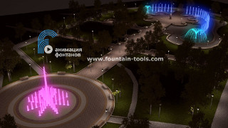 fountain in 3d